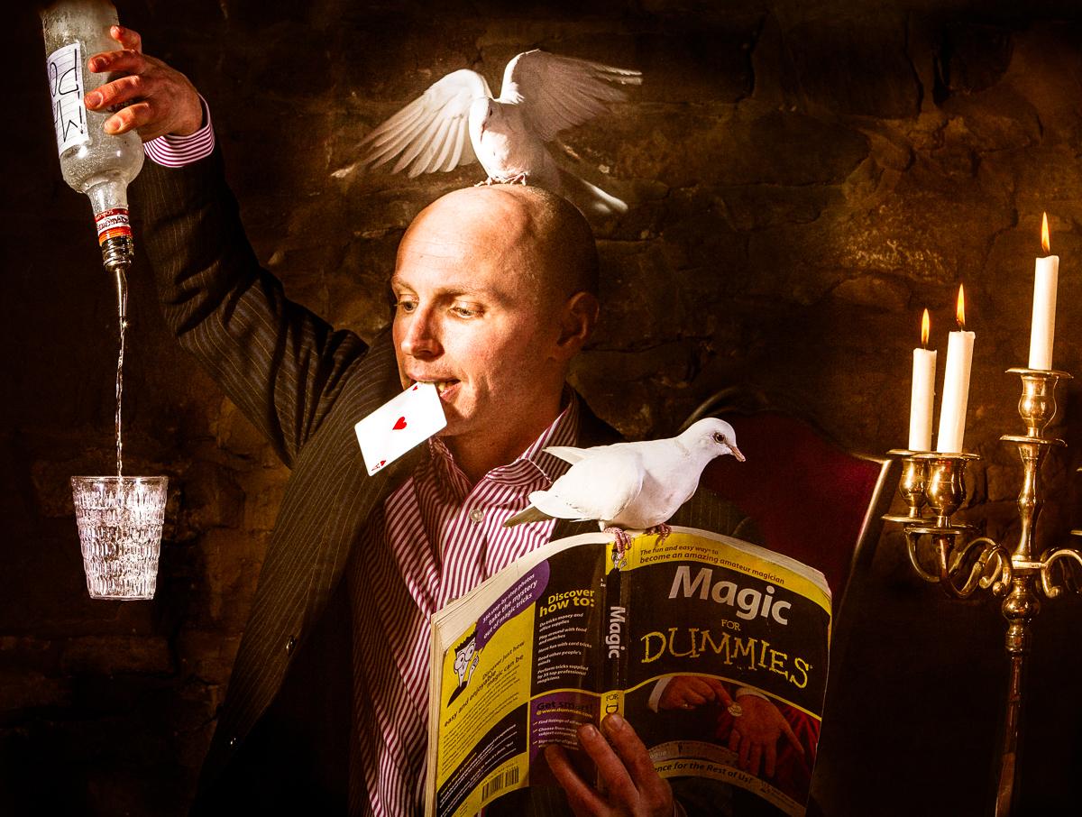 scoop performing various magic tricks